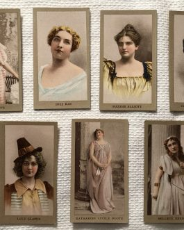 1890 N213 Actress Kinney Bros. Sweet Caporal Cigarette Cards – Group Of 20