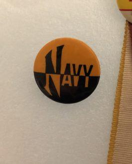 3 Vintage Football Pins – Navy, Yale & V.M.I.