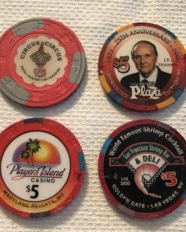 Group Of 8 – $5 Casino Chips – Group 1