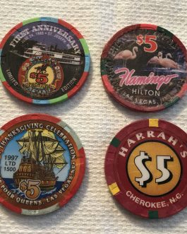 Group Of 8 – $5 Casino Chips – Group 2