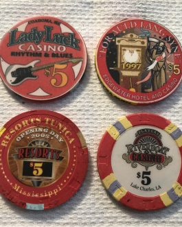 Group Of 8 – $5 Casino Chips – Group 3