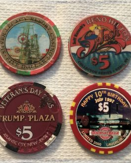 Group Of 8 – $5 Casino Chips – Group 4