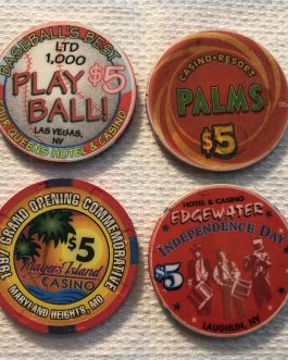 Group Of 8 – $5 Casino Chips – Group 5