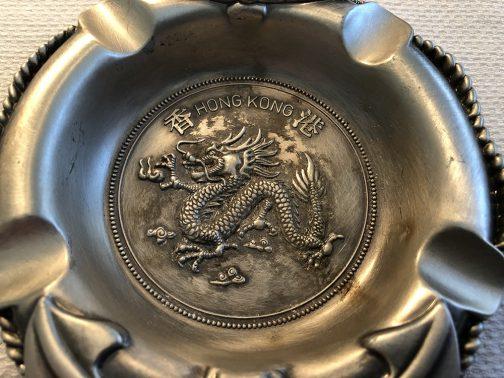 Hong Kong Souvenir Ashtray Chinese Dragon Lifesaver Anchor