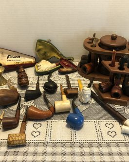 Large Collection Of Smoking Pipes From An Estate