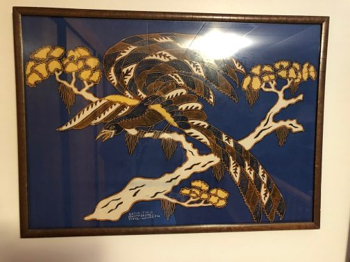 Batik Tulis Winotosastro Yogya Indonesia Art, Bird