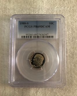 1980-S Roosevelt Dime Proof Professional Graded PCGS PR69DCAM