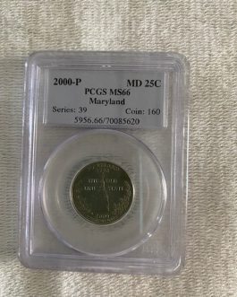 2000-P Maryland Quarter Professional Graded PCGS MS66