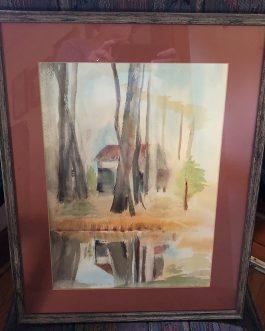 "Kenneth Pauli Watercolor Titled ""Woodsal"""