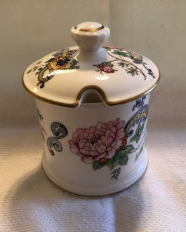 Crown Staffordshire Chelsea Manor Jam/Jelly/Sugar Bowl With Lid