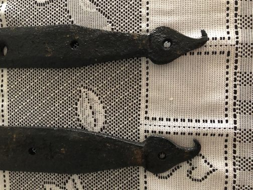 Collection Of 6 Hand Forged 1790 Wrought Iron Hinges