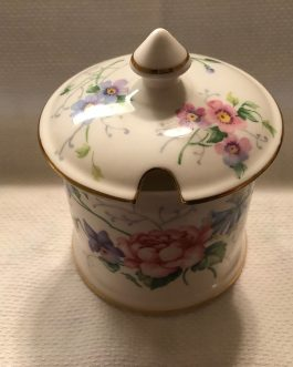 Crown Staffordshire Jam/Jelly/Sugar Bowl with Lid