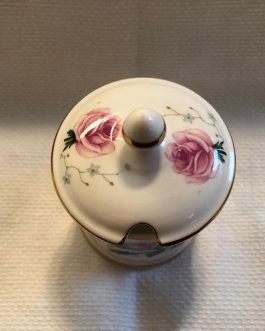 Crown Staffordshire Jam/Jelly/Mustard Jar with Lid