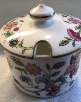 Minton Haddon Hall Ceramic Bone China Jam/Jelly with Lid