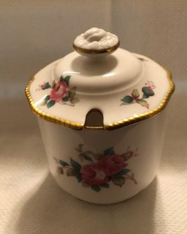 Spode Bone China Billingsley Rose Spray Mustard Jar with Lid