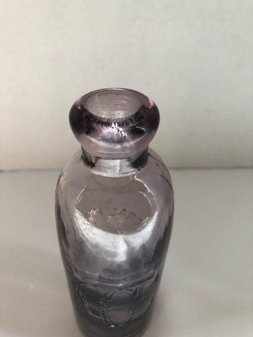 C & C Co. Mineral Waters Troy, NY Light Purple Bottle