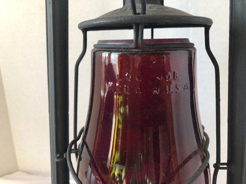 Dietz Railroad Lantern With Red Loc-Nob Globe