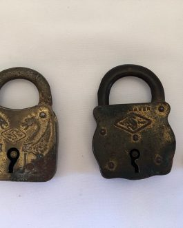 Group Of 2 Antique Slaymaker Locks, 1 With Key