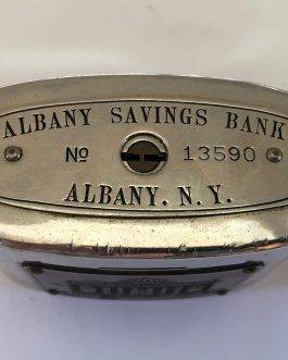 Group Of 4 Vintage Banks, Including Albany Savings Bank Albany, NY