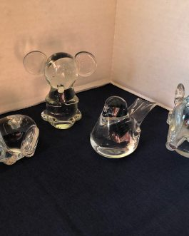 Group Of 4 Crystal Animal Paperweights – Group 4
