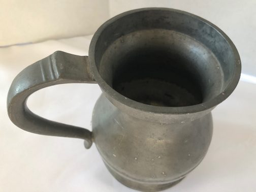 Antique Pint Pewter Tankard With Markings, Crown, VR 346 and PINT