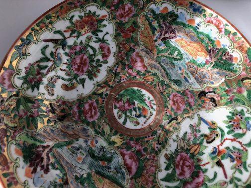 1800's Rose Medallion Porcelain Vase and Charger