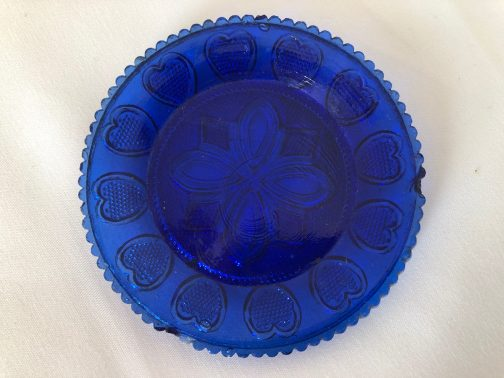 7 Antique Sandwich Glass Lacy Cup Plates Flint