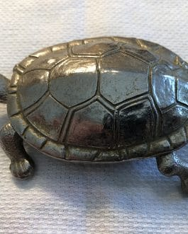 Group Of 2 Vintage Tortoise or Turtle Match/Trinket Boxes