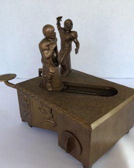 Vintage SportsBanks Mechanical Die Cast Football Coin Bank