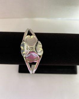 Gorgeous Dogwood Sterling Silver Bangle Bracelet