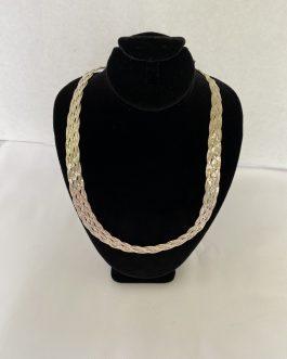 Beautiful Sterling Silver 17″ Triple Weaved Chain