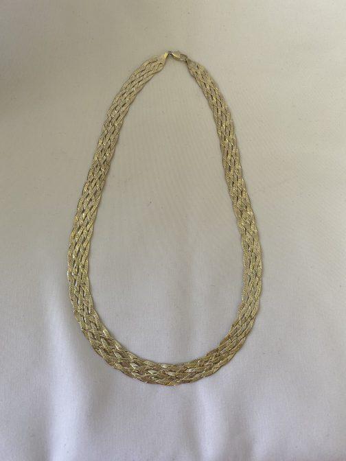"""Beautiful Sterling Silver 17"""" Triple Weaved Chain"""