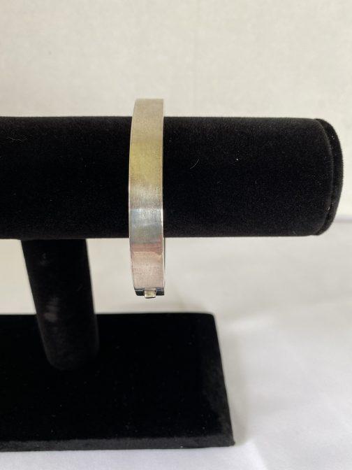 "Heavy! Sterling Silver Bracelet, Measures 2¾"" x 2¼"", Marked 925"