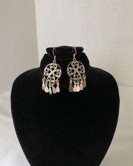 Absolutely Beautiful Pair Of Sterling Silver Pierced Earrings